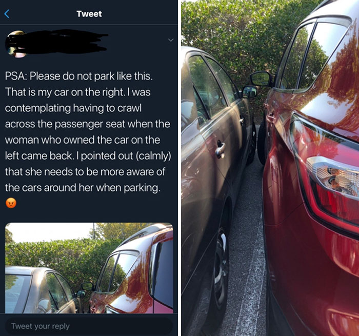 Horrible Driver Shames Other Driver For Not Accommodating Her Awful Parking Job