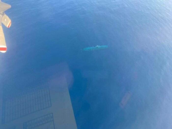 German U-Boat Spotted From The Air