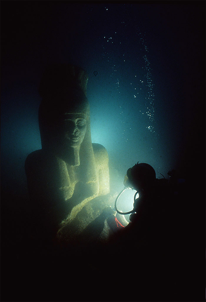 After 2300 Years Underwater, A Cache Of Ancient Relics Have Been Rediscovered Off The Coast Of Thonis-Heraclion In Egypt. They've Been Waiting, Watching