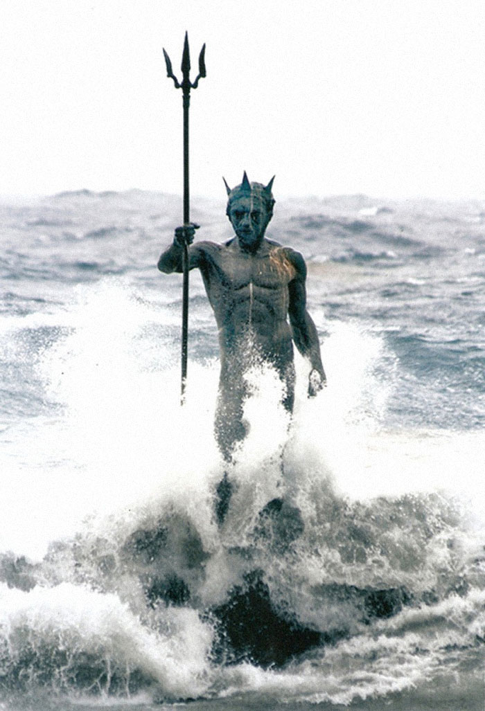 This Statue Of Poseidon In Spain
