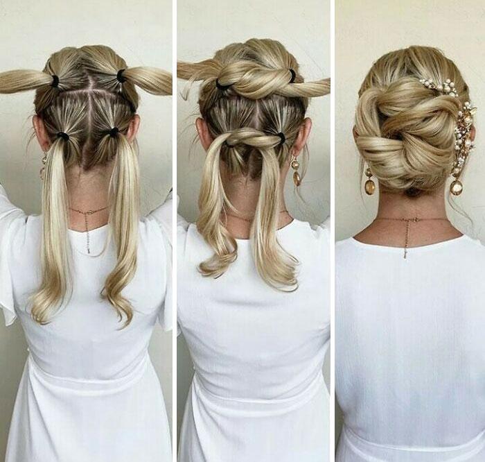 El resto del peinado de novia