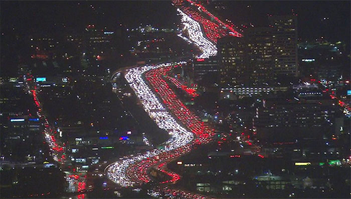 Literally, Just Thanksgiving Traffic In La