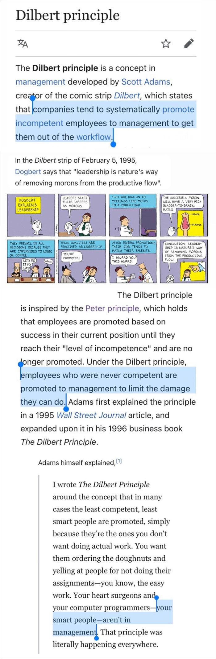Dilbert Principle