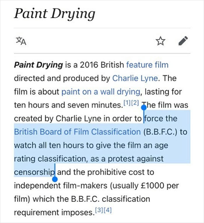 In Protest, A Guy Made A 10 Hour Film Of Paint Drying Just To Force The Film Classification Committee To Watch It