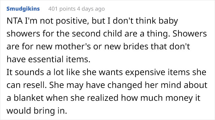 Woman Demands Guests Bring Expensive Gifts To Baby Shower, Student Refuses Because It's Expensive, Sparks Family Drama