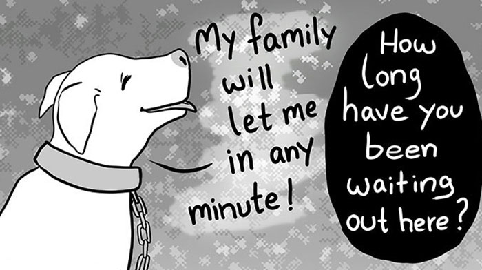 Artist Who Makes People Cry With Her Animal Comics Just Released A New Tragic One About A Freezing Dog