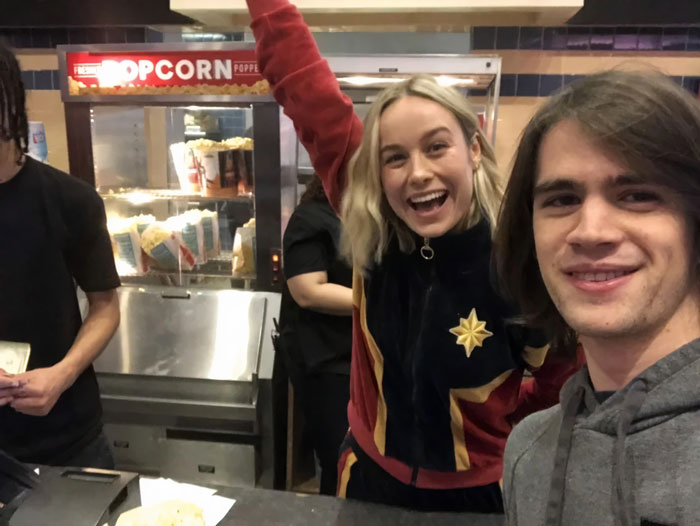 I Met Brie Larson Working The Night Shift At My Local AMC