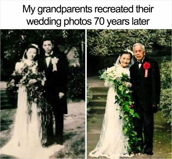 This Couple Re-Creating Their Marriage Photo 70 Years Later