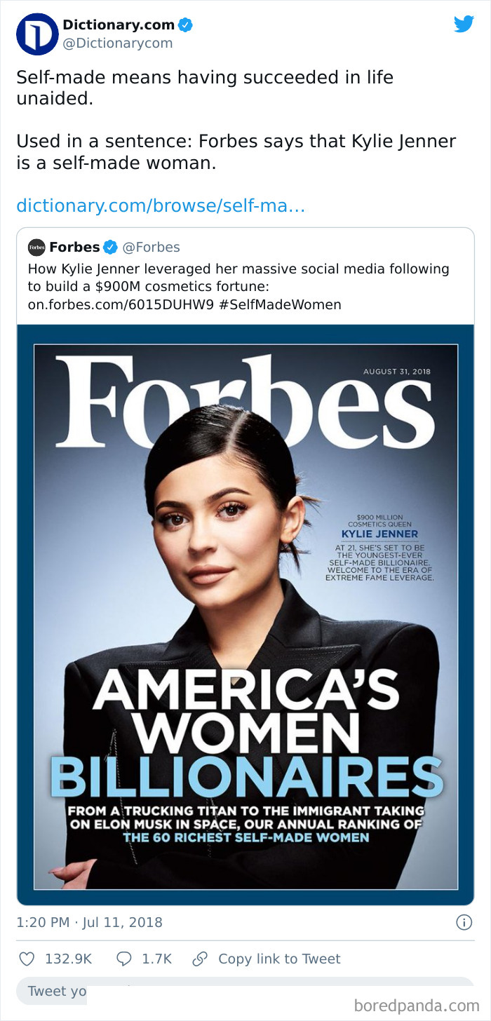 Forbes Getting Called Out For Calling Kylie Jenner A Self-Made Billionaire