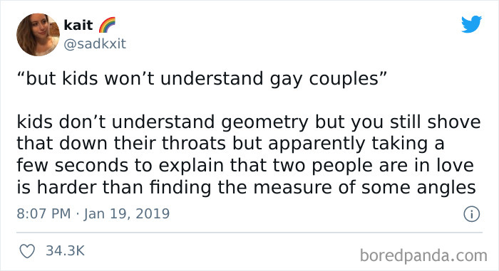 Both The Gays And Geometry Start With G.