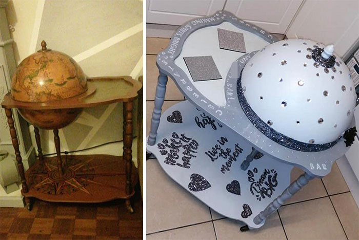 DIY Fanatic Proudly Shows Off Her Upcycled Drinks Trolley But Gets Absolutely Savaged For 'Ruining An Antique'