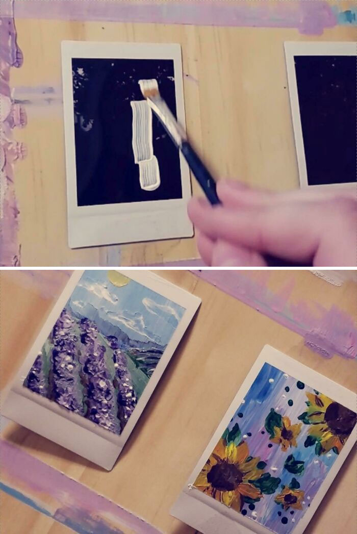 Didn't Want To Waste The Failed Films So I Turned Them Into Little Paintings