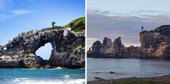 Puerto Rican Natural Wonder, Punta Ventana, Collapsed Today After An Earthquake