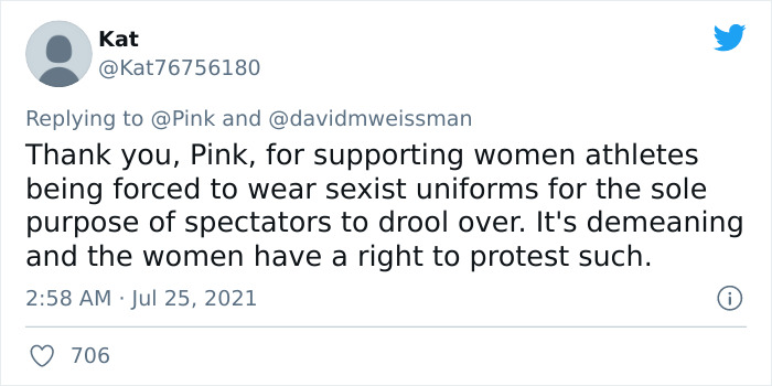 Pink Offers To Pay 'Sexist' Fine For Women's Handball Team Who Wore Shorts To A Game Instead Of Bikini Bottoms