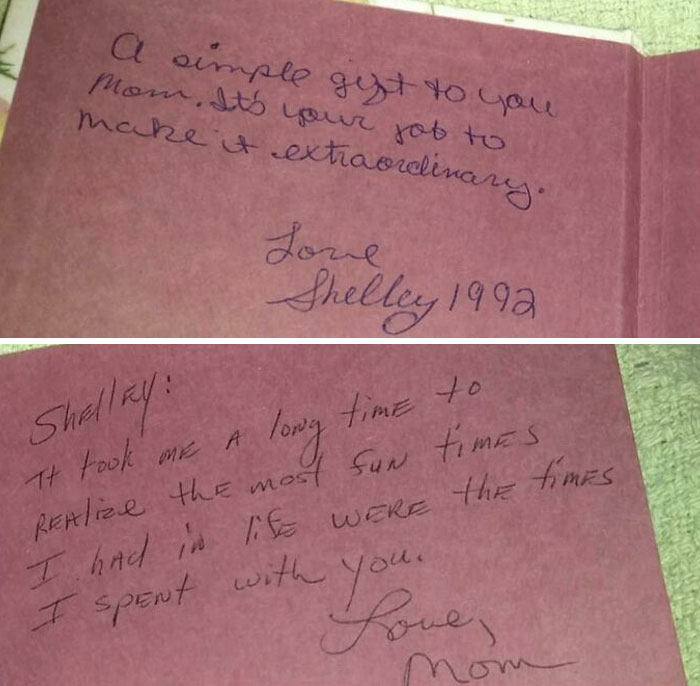 My Mom Died Of Covid June 8th. I Found This Her Writing On The Back Page Of This Blank Book I Gave Her Years Ago