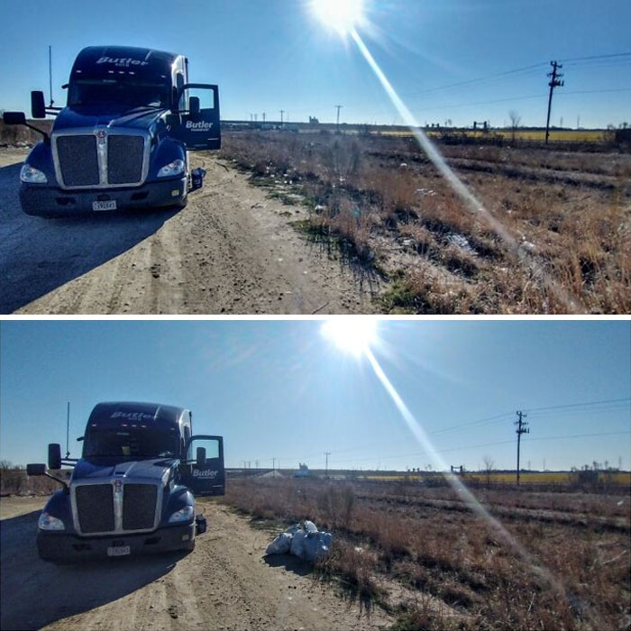 As A Truck Driver I Am So Tired Of Seeing Garbage Everywhere Left By Other Drivers. So I Decided To Be The Change That I Wanted To See In The World