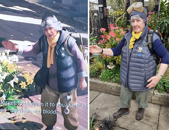 Sent A Picture Of A Final Fantasy 7 Character To My Mum Thinking She Looked Like Her, She Recreated The Look And Pretty Much Nailed It