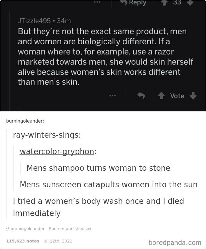 A Man's Razor Will Cut A Woman's Skin Clean Off