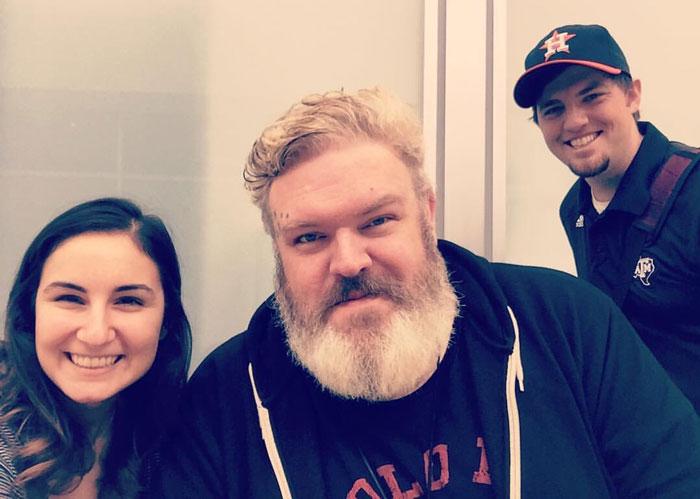 I Just Met Hodor [Kristian Nairn] At The Airport!