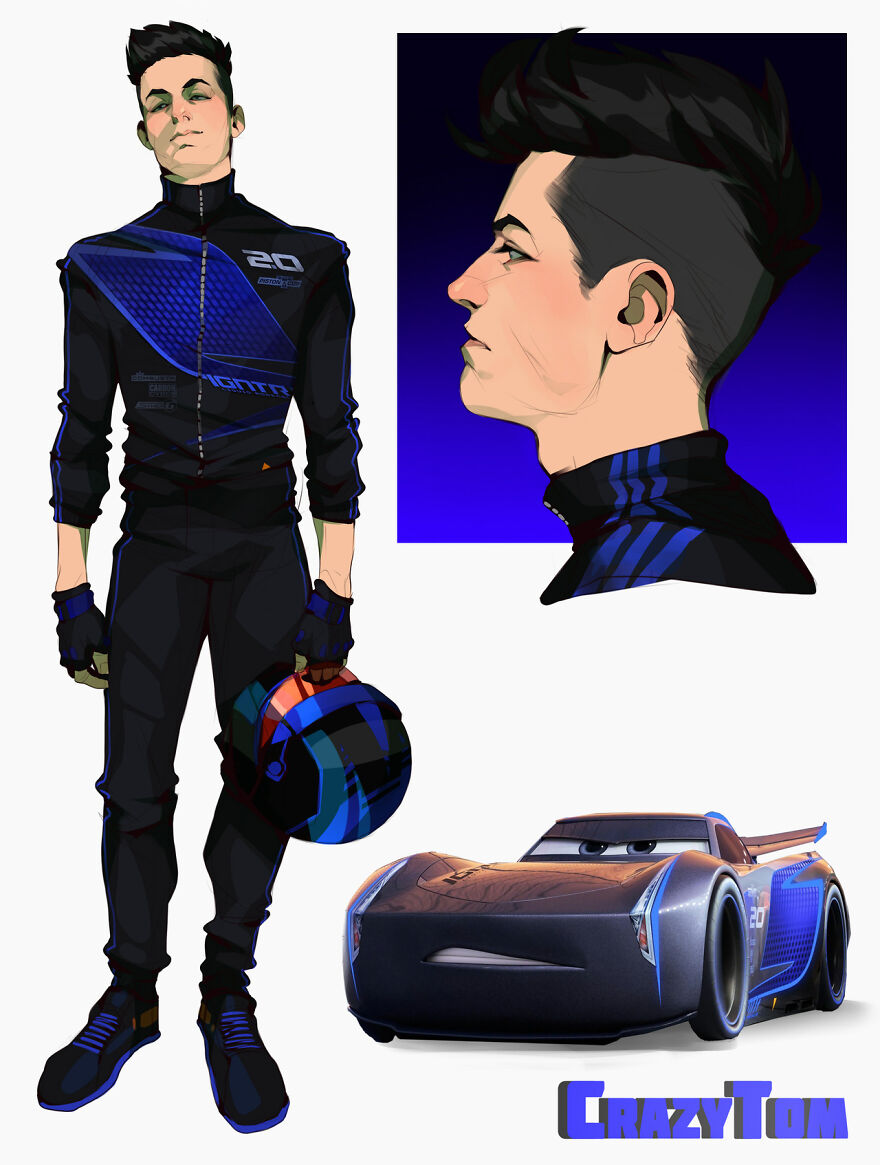 Jackson Storm from Cars 3.
