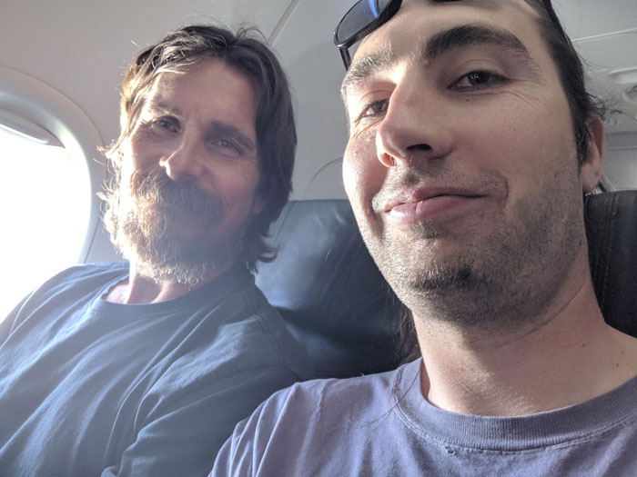 I Met This Cool Guy [Christian Bale] On A 5 Hour Plane Ride