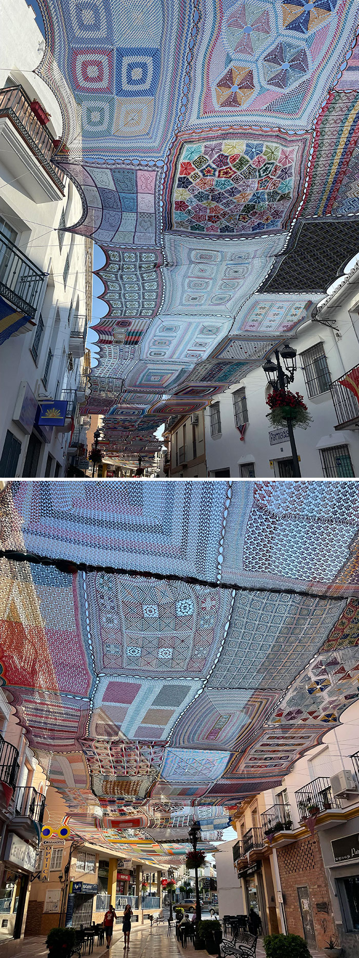 Ladies In My Village In Southern Spain Crochet And Hang These Over This Street