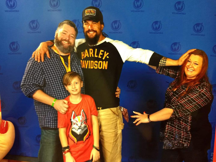 That One Time We Met Jason Momoa And My Husband Came Up With This Great Idea. Two Years Later And I Haven't Washed My Hair!