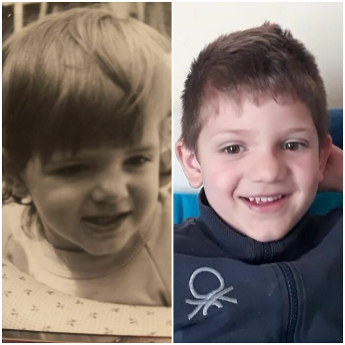 Me At 1 Year And My Son At 5.. With Picture Of The Same Age The Resemblance Is Stronger...