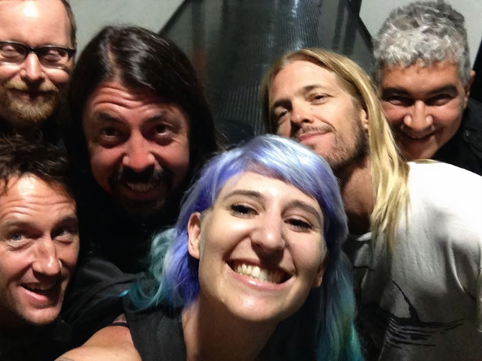 So Yesterday I Met My Hero Dave Grohl And Took A Selfie With The Foo Fighters. The Tour Manager Nearly Killed Me