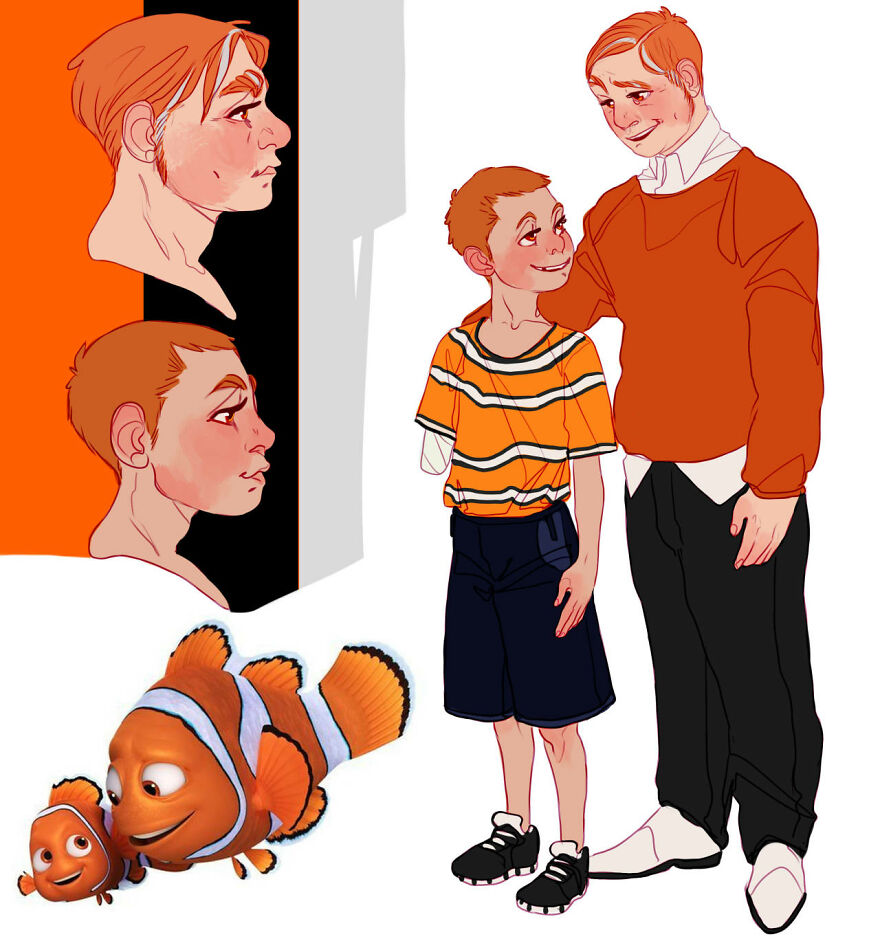 Nemo and Marlin from Finding Nemo.