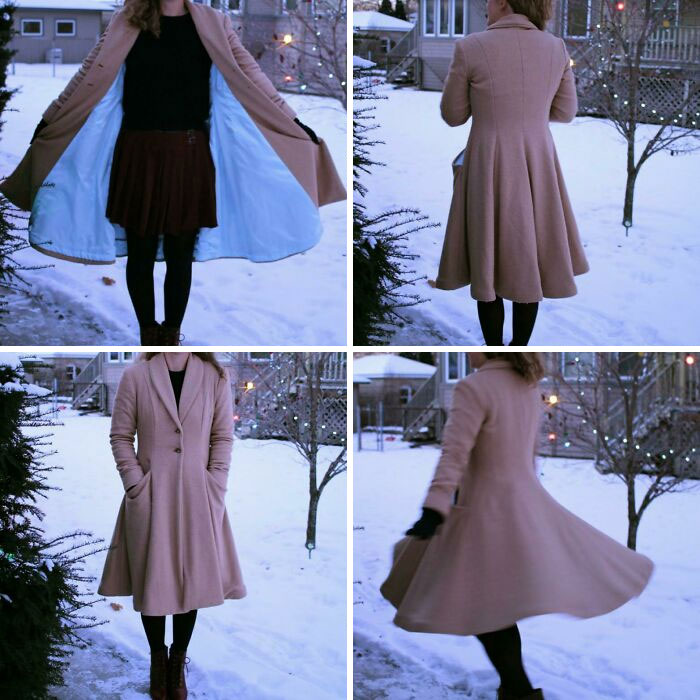 (McCall's Archive Collection Circa 1956 M7478) Took Forever To Finish This Coat, But I'm Really Pleased With How It Turned Out - Especially The Twirl Factor!