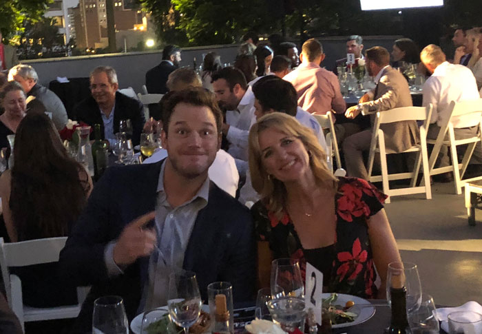 My Dad Sent Me A Picture Of My Mom And The 'Nice Young Man' [Chris Pratt] At Their Table At A Charity Dinner Last Night