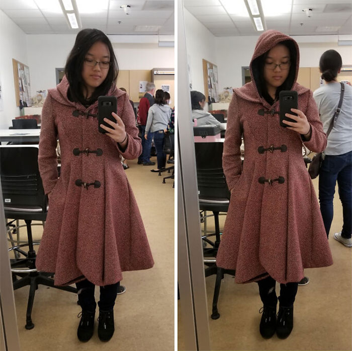 Simplicity 8262, Modified To Have A Hood Instead Of A Double Collar. Now To Walk Around Looking Dramatic