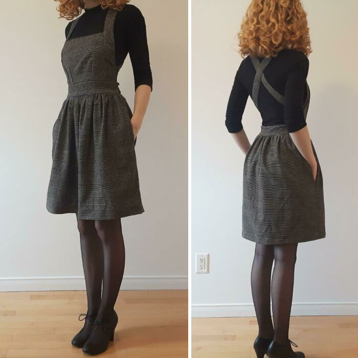 Sewcial Isolation Project I Made Back In March! (Apron Dress By Fabrics-Store (Free))