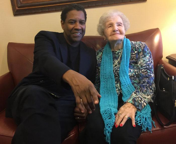 My Grandma (99!) Met Her Favorite Actor [Denzel Washington] Today!