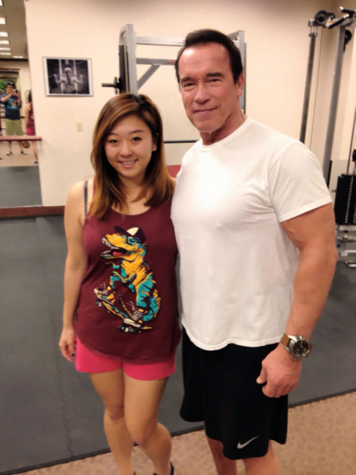 Met [Arnold Schwarzenegger] At The Gym. Gave Me Props For Being Female And Doing Frontal Raises