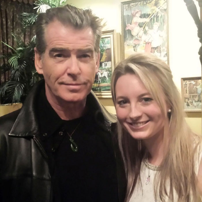 Met 007 [Pierce Brosnan] This Evening. He Felt Bad For Interrupting My B'day Party!