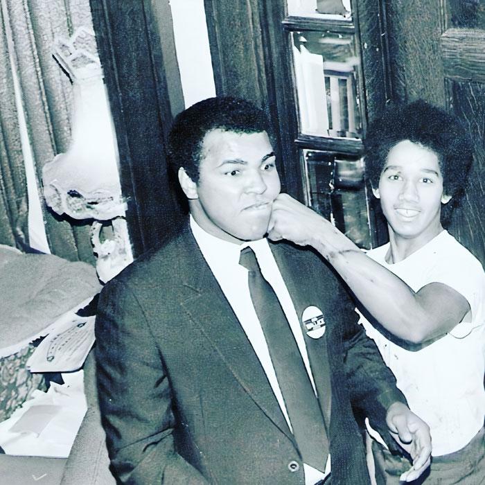 My Dad With Muhammad Ali 1970s