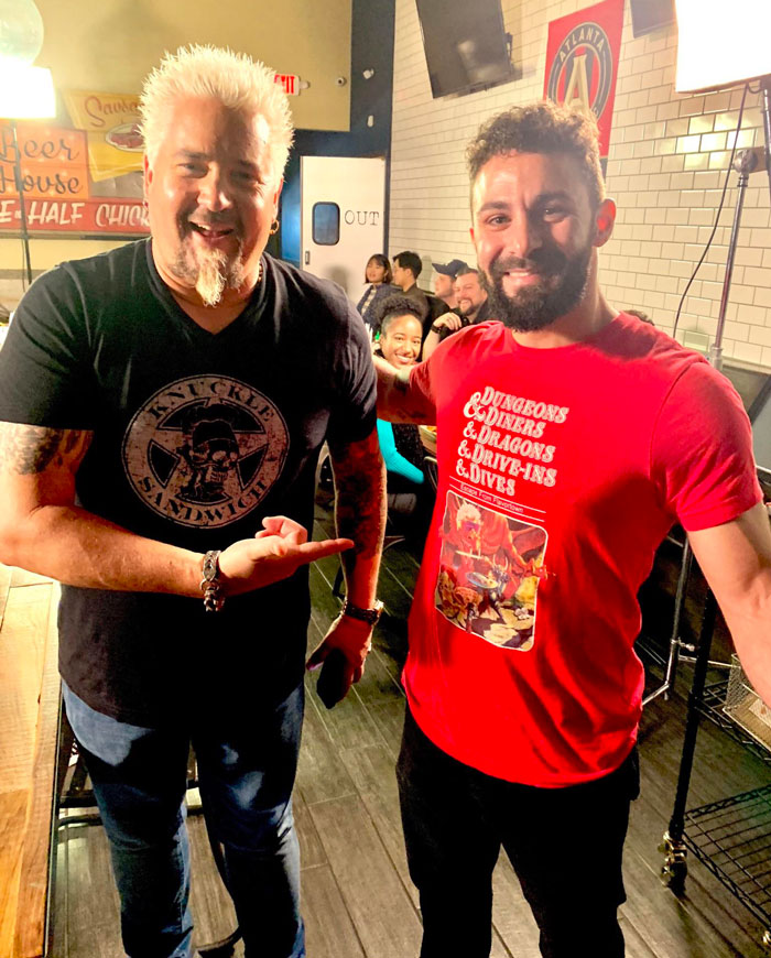 I Just Met The Mayor Of Flavortown [Guy Fieri] Wearing A Dungeons & Diners & Dragons & Drive-Ins & Dives Shirt!!!!