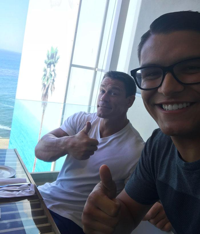 Met My Idol John Cena At A Restaurant!