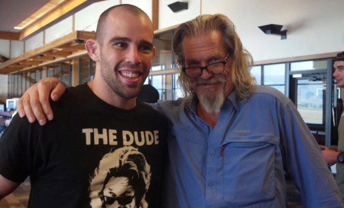 My Friend Met This Gentlemen [Jeff Bridges] At Gallatin Field Airport (Montana, USA) Coincidentally, He Just Happened To Be Wearing This Shirt