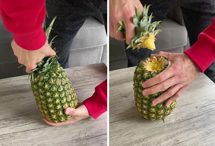 32+ Million People Can't Stop Watching This Video Of How To 'Correctly' Eat Pineapples