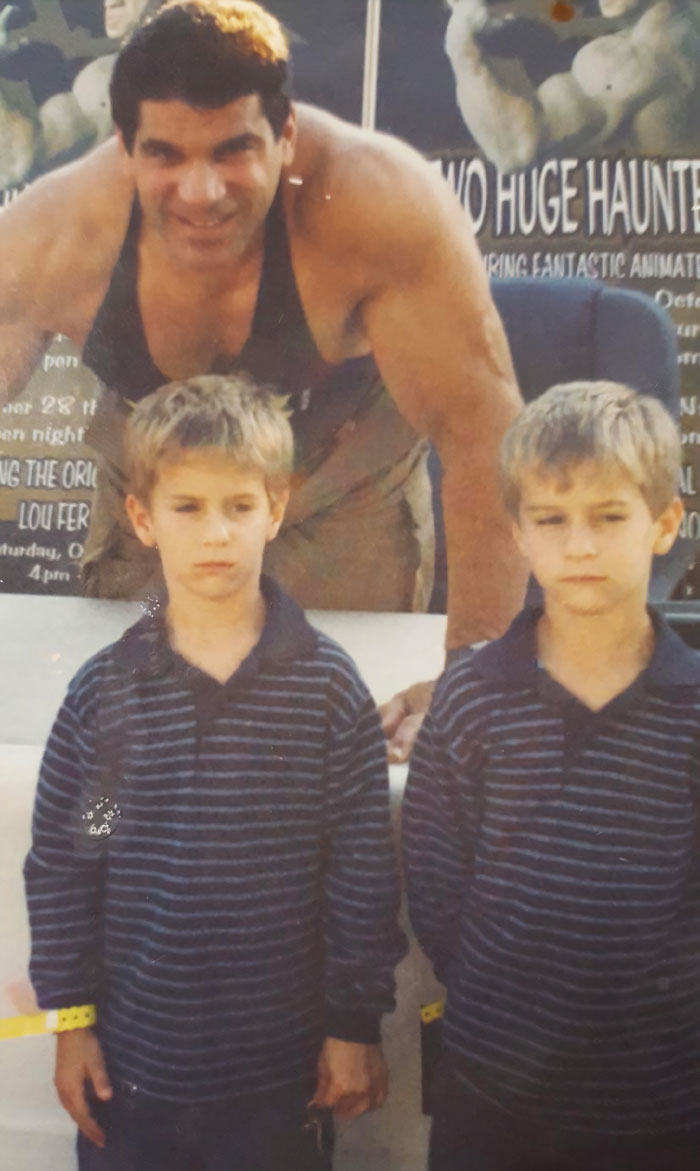 My Brother And I Met Our Favorite Super Hero (The Hulk) When We Were 4. We Were P@#$%d Off Because Lou Ferrigno Wasn't Green