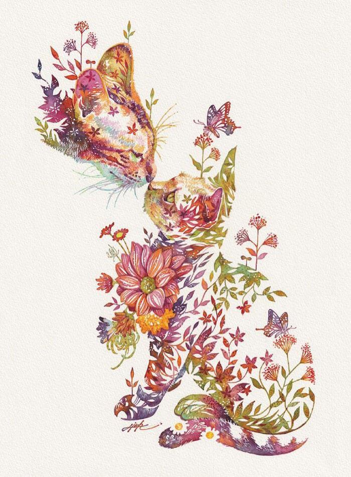 Watercolor-Art-Animals-Hiroki-Takeda