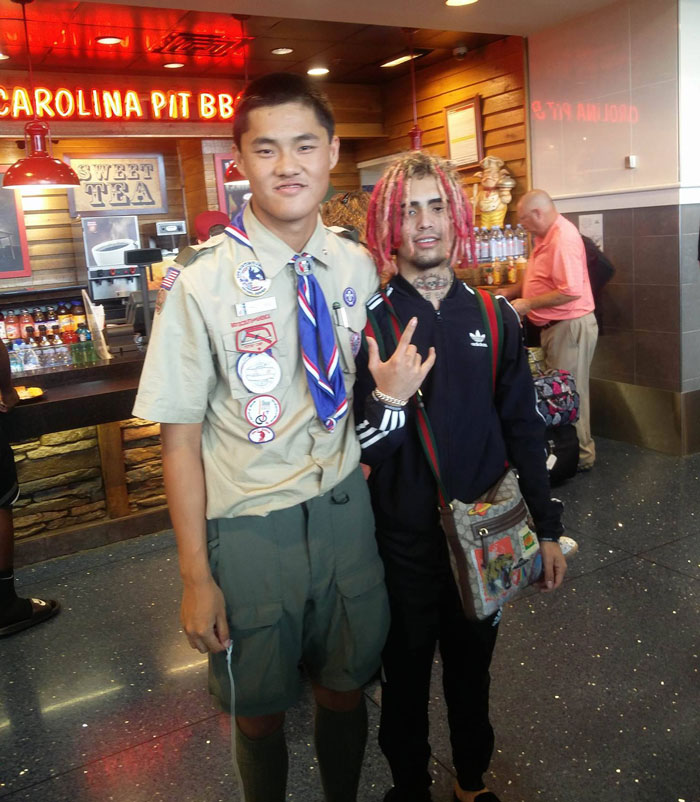 On My Way To A Boy Scout Camp I Met Lil Pump He Was High As F@#k And Thought I Was In The Military