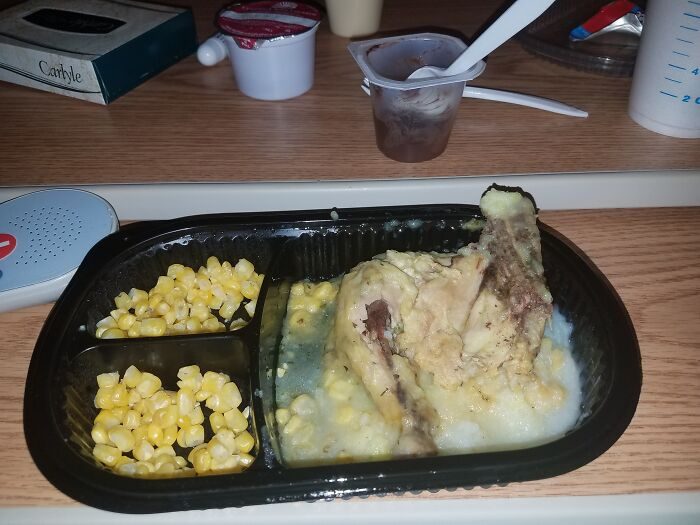 My First Meal In A Week, At A Hospital For Meningitis, Entertain Me, Please. Milwaukee, Wisconsin