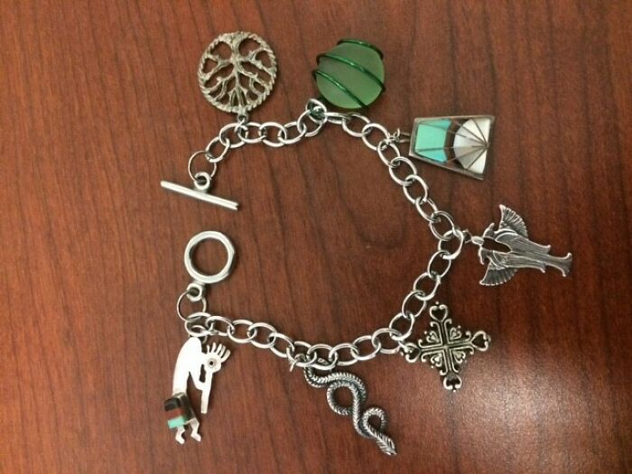 Earrings Who Lost Their Mates Turned Into A Charm Bracelet