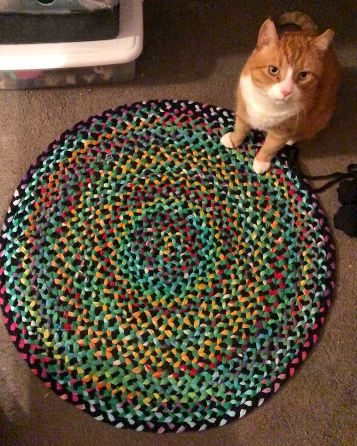 This Rug Used To Be A Bunch Of Ugly T-Shirts
