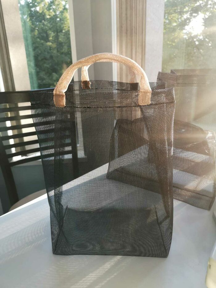 Made A Bag For My Mom's Yarn From Old Window Screen