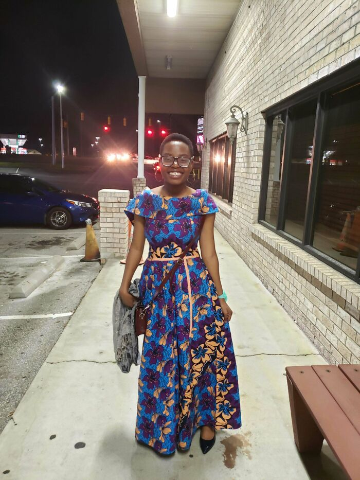 This Is A Prom Dress My Aunt From Nigeria Made For Me Back In 2019. We Designed It Based On Two Different Dresses. The Pattern Of The Fabric Is My Favorite Part! (No Pattern)
